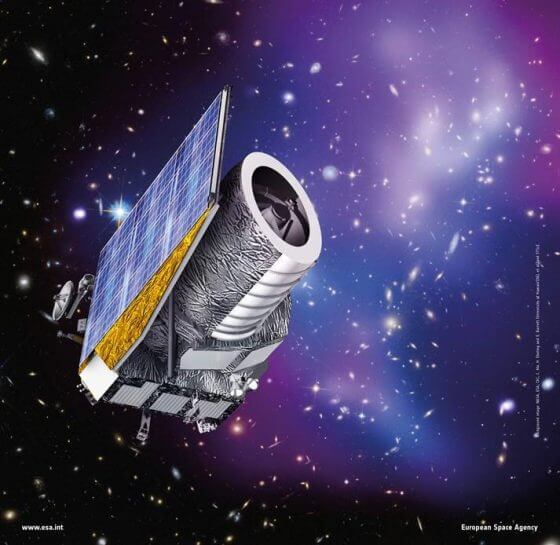 artist's illustration of the EUCLID space telescope