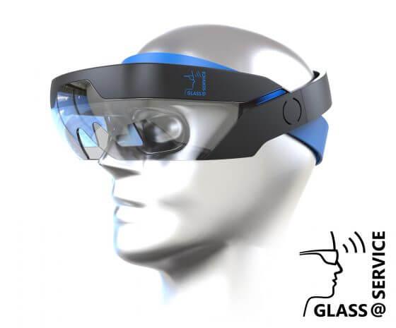 Illustration einer AR-Brille (augmented reality) im Projekt Glass@Service