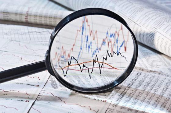 Datenanalyse symbolisch anhand von Aktienkursen