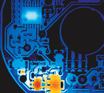 thermal defect detection on an electronics board