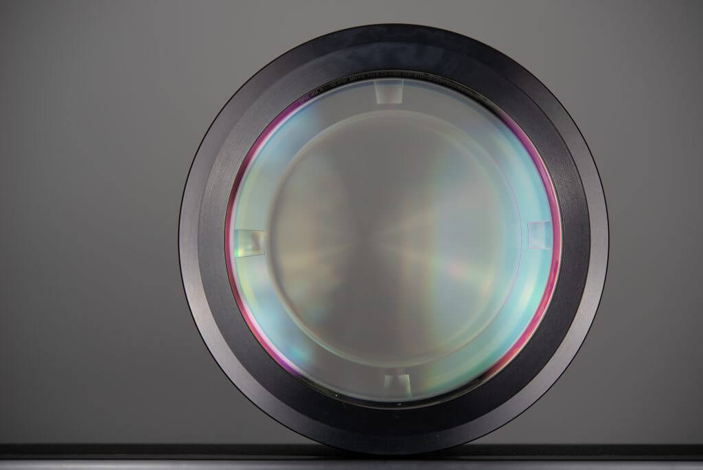 Display of a DFNL CGH. In the middle is the main hologram. In the outer ring the different alignment holograms are shown.
