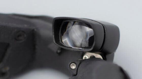 Funktionsmuster eines Head-Mounted Displays zur Wiedergabe des Bildes einer Thermografiekamera.