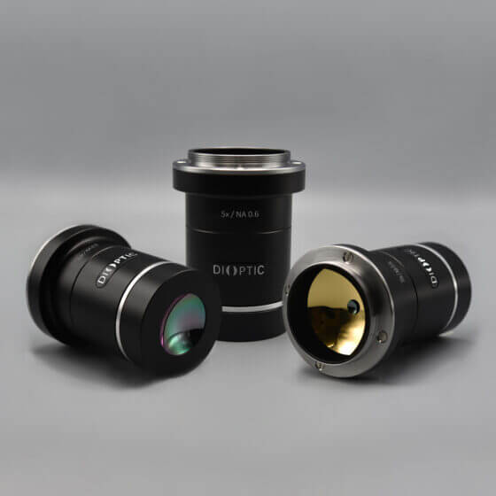 MWIR infrared microscope lenses for thermography with cooled sensors