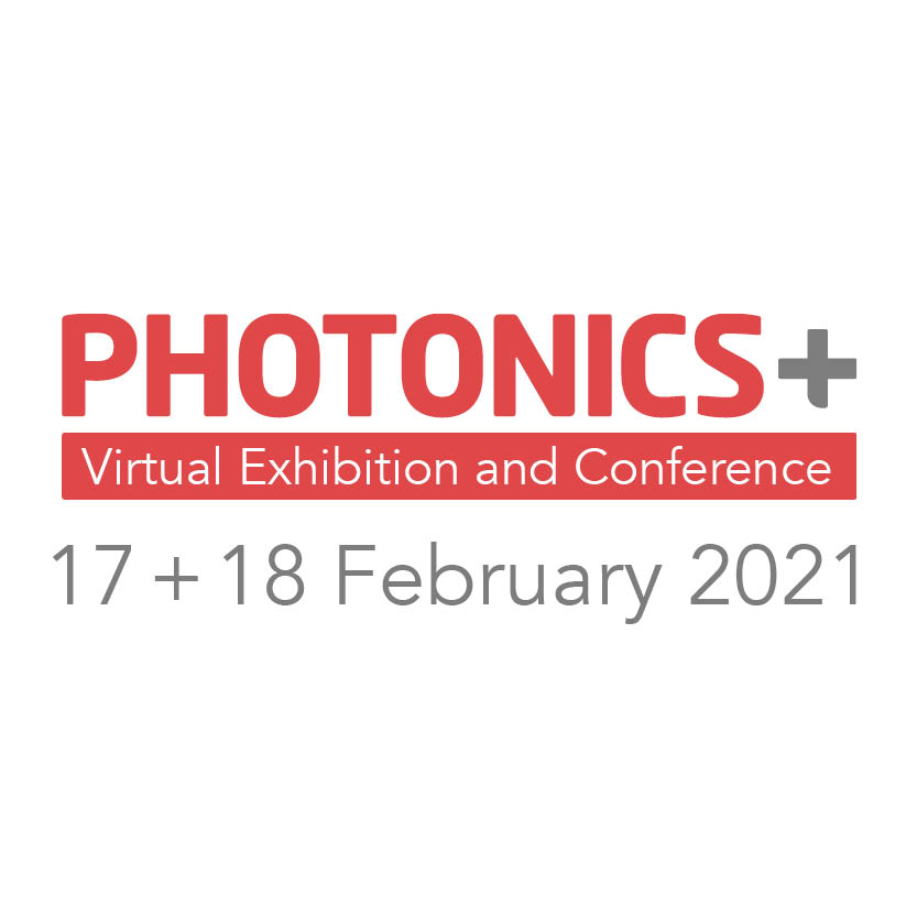 Photonics+ Virtual Exhibition and Conference | February 17 + 18, 2021 | 1pm – 6pm CET