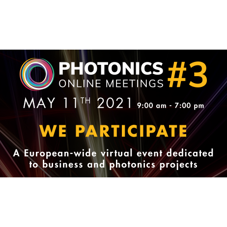 Photonics France Online meetings #3 – May 11, 2021 | 9am – 7pm CET